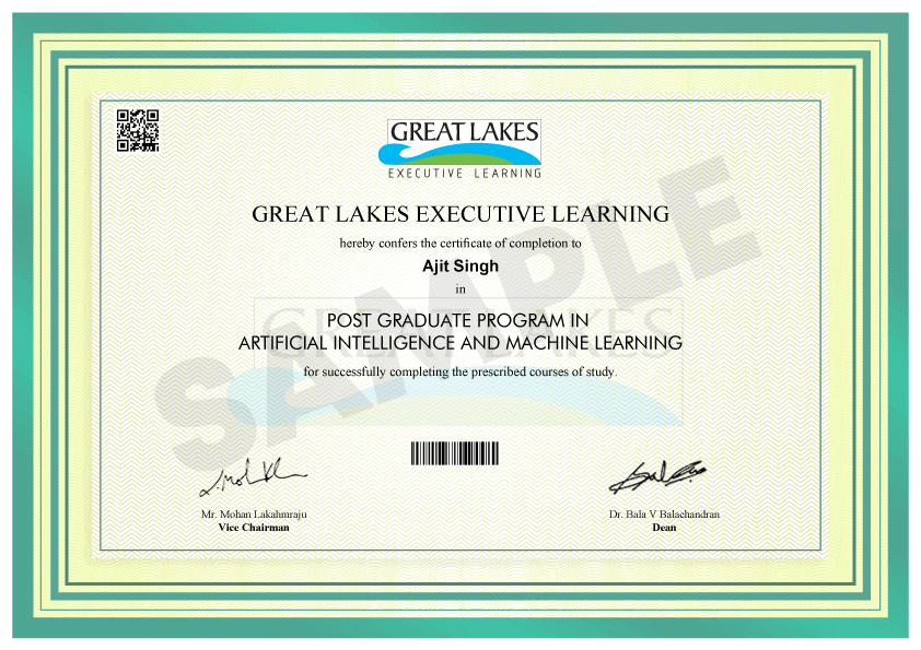 Great Lakes Certificate